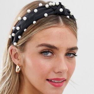 pearl embellished headband